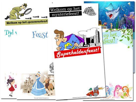 Uitnodigingskaart voor een kinderfeestje