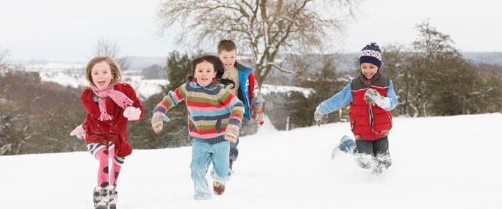 Kinderfeestje buiten in de winter!